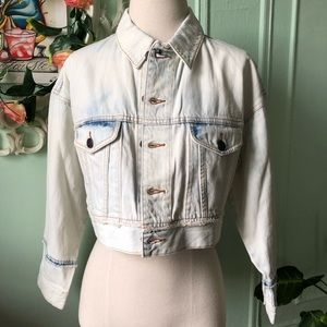 Marc Jacobs White cropped denim jacket